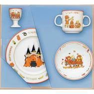 Набор посуды для детей Guy Degrenne Les Triples Осень, фарфор - 4 предмета - арт.155175, фото 1