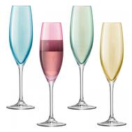 Набор бокалов для шампанского LSA International Polka, пастельные, 225мл - 4шт - арт.G978-08-294, фото 1