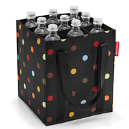 Сумка для бутылок Reisenthel Bottlebag, чёрная в цветной горох, 23х27.5х23см - арт.ZJ7009, фото 1