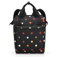 Сумка-рюкзак Reisenthel Allrounder R, чёрный в горошек, 26х45.3х14.5см - арт.JR7009, фото 1