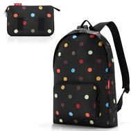 Складной рюкзак Reisenthel Mini maxi, чёрный в цветной горох, 29.3х47х15см - арт.AP7009, фото 1