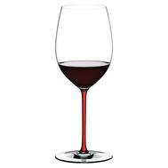 Бокал для вина Cabernet/Merlot Riedel Fatto a Mano, 625мл, красная ножка - арт.4900/0R, фото 1