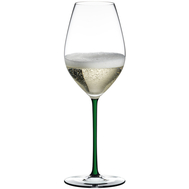 Фужер для шампанского Champagne Wine Glass Riedel Fatto a Mano, 445мл, зеленая ножка - арт.4900/28G, фото 1