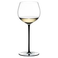 Фужер для вина Oaked Chardonnay Riedel Fatto a Mano, 620мл, черная ножка - арт.4900/97B, фото 1