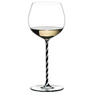 Фужер для вина Oaked Chardonnay Riedel Fatto a Mano, 620мл, черно-белая ножка - арт.4900/97BWT, фото 1