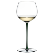 Фужер Oaked Chardonnay Riedel Fatto a Mano, 620мл, зеленая ножка - арт.4900/97G, фото 1