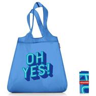 Сумка складная хозяйственная Reisenthel Mini maxi shopper, синяя Oh yes, 43.5х65х6см - арт.SO0743, фото 1
