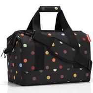 Дорожная сумка Reisenthel Allrounder M, чёрная в цветной горох - арт.MS7009, фото 1