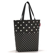Тканевая сумка Reisenthel Cityshopper 2, чёрная в белый горох, 47х44х17см - арт.ZE7051, фото 1