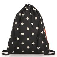 Складной рюкзак Reisenthel Mini maxi Sacpack, черный в белый горох, 35.5х45.7х5.5см - арт.AU7051, фото 1