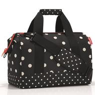 Дорожная сумка Reisenthel Allrounder M, чёрная в белый горох - арт.MS7051, фото 1