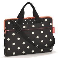 Сумка для ноутбука Reisenthel Netbookbag, чёрная в белый горох, 40.8х29х3.3см - арт.MA7051, фото 1