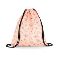 Мешок детский Reisenthel Mysac Cats and dogs, розовый, 32.7х33.2х1.2см - арт.IC3064, фото 1