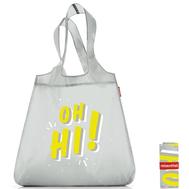 Сумка хозяйственная складная Reisenthel Mini maxi shopper, серая Oh hi, 43.5х65х6см - арт.SO0744, фото 1