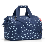 Дорожная сумка Reisenthel Allrounder М, синяя в белый горох - арт.MS4044, фото 1