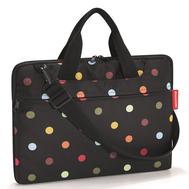 Сумка для ноутбука Reisenthel Netbookbag, чёрная в горошек, 40.8х29х3.3см - арт.MA7009, фото 1