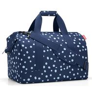 Дорожная сумка Reisenthel Allrounder L, синяя в белый горох - арт.MT4044, фото 1