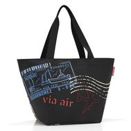 Сумка-шоппер Reisenthel Shopper M Special edition, чёрная, 51х30.5х26см - арт.ZS7037, фото 1