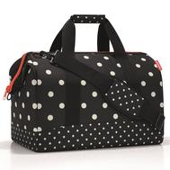 Дорожная сумка Reisenthel Allrounder L, чёрная в белый горох - арт.MT7051, фото 1