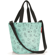 Детская сумка Reisenthel Shopper XS Cats and dogs, мятная - арт.IK4062, фото 1