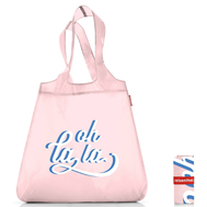 Сумка хозяйственная складная Reisenthel Mini maxi shopper, розовая Oh la la, 43.5х65х6см - арт.SO0742, фото 1
