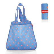 Сумка хозяйственная складная Reisenthel Mini maxi shopper, голубая в горошек, 43.5х65х6см - арт.AT4058, фото 1