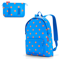 Складной рюкзак Reisenthel Mini maxi, голубой в горошек, 29.3х47х15см - арт.AP4058, фото 1