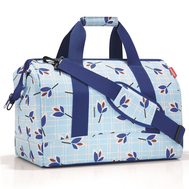 Дорожная сумка Reisenthel Allrounder L, голубая с листьями - арт.MT4064, фото 1
