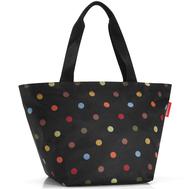Сумка-шоппер Reisenthel Shopper M, чёрная в цветной горох, 51x30.5x26см - арт.ZS7009, фото 1