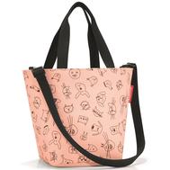 Детская сумка Reisenthel Shopper XS Cats and dogs, розовая - арт.IK3064, фото 1