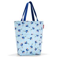 Тканевая сумка Reisenthel Cityshopper 2, голубая с листьями, 47х44х17см - арт.ZE4064, фото 1