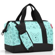 Детская сумка Reisenthel Allrounder M Cats and dogs, мятная, 40см - арт.IX4062, фото 1
