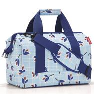 Дорожная сумка Reisenthel Allrounder M, голубая с листьями - арт.MS4064, фото 1