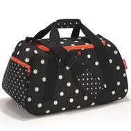 Спортивная сумка Reisenthel Activitybag, чёрная в белый горох, 53.1х37х29см - арт.MX7051, фото 1