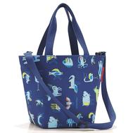 Детская сумка Reisenthel Shopper XS ABC friends, синяя, 29.7х74х16см - арт.IK4066, фото 1