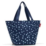 Сумка-шоппер Reisenthel Shopper M, синяя в горох, 49.7х55х25.5см - арт.ZS4044, фото 1