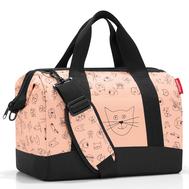 Детская сумка Reisenthel Allrounder M Cats and dogs, розовая, 40см - арт.IX3064, фото 1