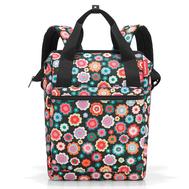 Сумка-рюкзак Reisenthel Allrounder R, чёрный в цветочек, 26х45.3х14.5см - арт.JR7048, фото 1