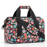 Дорожная сумка Reisenthel Allrounder M, чёрная в цветочек - арт.MS7048, фото 1