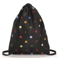 Складной рюкзак Reisenthel Mini maxi Sacpack, чёрный в горошек, 35.5х45.7х5.5см - арт.AU7009, фото 1