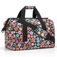Дорожная сумка Reisenthel Allrounder L, чёрная в цветочек - арт.MT7048, фото 1
