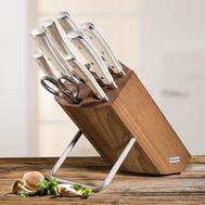 Набор ножей Wusthof Classic Ikon Cream White, 6 шт, мусат, ножницы, подставка из бука, кованая нержавеющая сталь, Золинген, Германия - арт.9879 WUS, фото 1