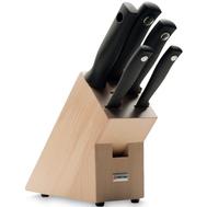 Набор ножей на подставке Wusthof Silverpoint, 5 предметов, бук, кованая нержавеющая сталь, Золинген, Германия - арт.9829-1, фото 1