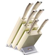 Набор ножей 6 предметов Wusthof Classic Ikon Cream White, подставка из бука, кованая нержавеющая сталь, Золинген, Германия - арт.9877 WUS, фото 1