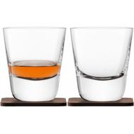 Стаканы для виски LSA International Arran Whisky, с деревянными подставками, 250мл - 2шт - арт.G1212-09-301, фото 1