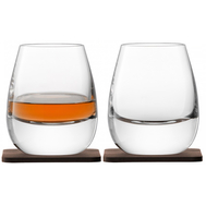 Стаканы для виски LSA International Islay Whisky, с деревянными подставками, 250мл - 2шт - арт.G1213-09-301, фото 1