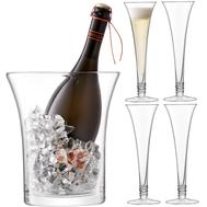 Набор для шампанского LSA International Prosecco: 4 бокала 140мл и ведёрко - арт.G1335-00-301, фото 1