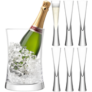 Набор для шампанского LSA International Moya: 6 бокалов и ведёрко - арт.G1372-00-985, фото 1