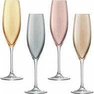 Цветные бокалы для шампанского, LSA International Polka, металлик, 225мл - 4шт - арт.G978-09-960, фото 1