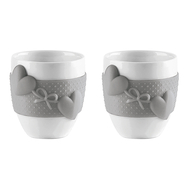 Чашки для кофе Guzzini Love, серые, 80мл - 2шт - арт.11490033, фото 1